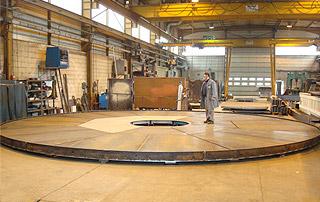 Plancher supérieur de turbine hydro électrique